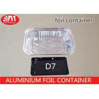Wholesale D7 Disposable Tin Foil Trays , Aluminium Food Packaging Containers 700ml Volume from china suppliers