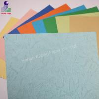 Wholesale 210gsm A4 size colorful leather grain book binding cover paper for office use from china suppliers