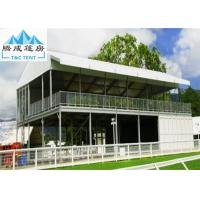 Wholesale Double Decker Outdoor Exhibition Tent Cube Structure With Glass Door from china suppliers
