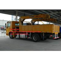 Wholesale Sinotruk Howo 4x2 Crane Mounted Truck , 5-10 Ton Xcmg Telescopic Boom Crane from china suppliers