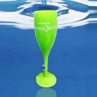 Resuable and Unbreakable Plastic Champagne glasses for Champagne Flutes with Green Color