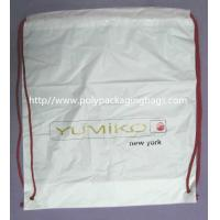 Wholesale White Lightweight Durable Drawstring Storage Bags With Two PP Drawstring from china suppliers