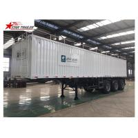 Wholesale Box 3-4 Axles Flatbed Container Trailer 60-100Tons Dry Food Van Transport from china suppliers