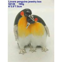 Lovers penguins jewelry box