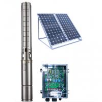 Wholesale 4 Inch DC Solar Deep Well Submersible Pump , Solar Powered Water Pump For Irrigation from china suppliers