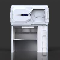 China Comfortable Technical Space Capsule Bed With Desk Designed For School Dormitory on sale