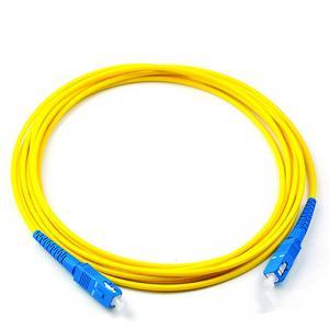 SC/UPC Fiber optic patch cord Singlemode Simplex 2.0mm Yellow OFNP cable