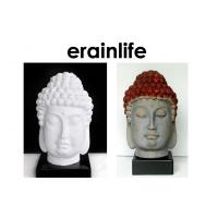 China White Brown Home Decorating Accessories polyresin Buddha Head ...