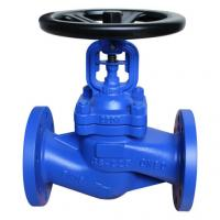 Buy cheap DIN 3356 Standard Bellow Sealed Globe Valve.BB,DN150,RF flanged to pn16 from wholesalers