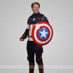 China Actor Steve Rogers Celebrities Wax Figures Lifelike Celebrity Role In Captain Amercia wholesale