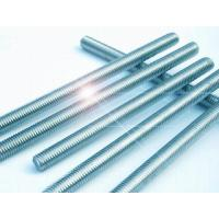 Wholesale 3/8 Inch - 24 Inch High Strength Threaded Rod , Half Thread Stainless Steel Threaded Bar from china suppliers