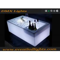China Modern color changing rechargeable bright led bar table , led glow furniture wholesale