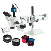 Wholesale Auto / Manual Control Portable Trinocular Industrial Microscope For Phone Soldering from china suppliers