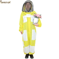 Wholesale 3 Layer Yellow Beekeeping Outfits Ventilated Apicultura Bee Jacket Beekeeping Suit from china suppliers
