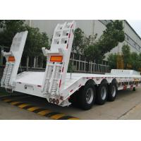 Wholesale 70 Ton 3 Axles Gooseneck Lowboy Semi Trailer For Heavy Duty Vehicles Delivery from china suppliers