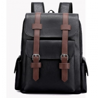 Wholesale Retro PU Leather Student Laptop Schoolbag 38x12x34cm from china suppliers