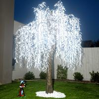 Wholesale white artificial led weeping willow tree light from china suppliers
