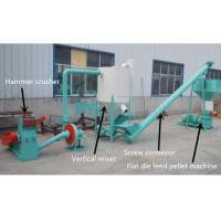 Buy cheap 200 - 500kg/H Feed Pellet Production Line For Farm CE / ISO Certification from wholesalers