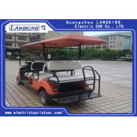 Wholesale Orange Powerful  Petrol Golf Buggy Steel Framework Range 80km Electric Club Car from china suppliers