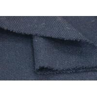 Wholesale Navy Coarser Double Faced Wool Fabric 50 Wool / 50 Polyester Composition from china suppliers