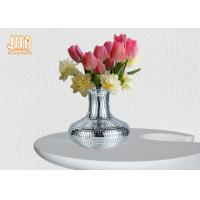Wholesale Decorative Silver Mosaic Glass Polystone Centerpiece Table Vase Flower Pots from china suppliers