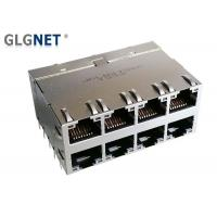 China DIP Mounting Stacked RJ45 Connectors Shielded With 5G Integrated Transformer on sale