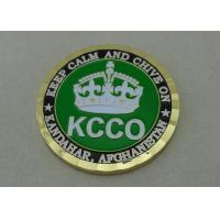 China 2.0 Inch KCCO custom military coins By Brass Die Struck And Gold Plating on sale