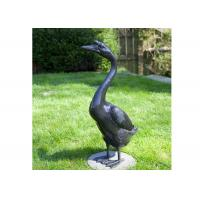 Wholesale Outdoor Modern Life Size Casting Finish Bronze Animal Goose Sculpture from china suppliers
