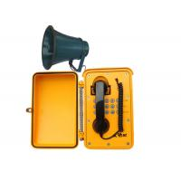 Wholesale Water Proof Industrial Box Telephones IP67 Yellow , Corded Wall Telephones from china suppliers