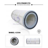 Pleated Folding Industrial Extractor Filters , 324 * 213 * 660mm Dust Filter Cartridge