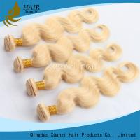 Wholesale Natural Body Wave Blonde Hair Extensions , Weft Peruvian Virgin Hair No Smell from china suppliers
