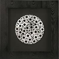 China Abstract Metal 3D Shadow Box Black MDF Framed Art wholesale