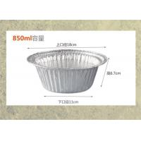 Wholesale Disposable Aluminium Foil Pan Round Shape Bowl For Food Cooking Aluminum Foil Container 750ml from china suppliers