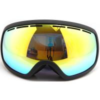 Wholesale Three Layer Foam Mirrored Ski Goggles Spherical Lens type / Ladies Snowboard Goggles from china suppliers