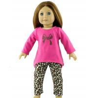 Peach Red Madame Alexander Doll Clothes , Leopard Pattern Nylon Meterial Doll Pants