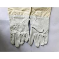 Wholesale Durable White Sheepskin Sting Proof Gloves With White Wide Elastic Cuff from china suppliers