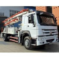 Wholesale 6 Wheels Concrete Pump Truck / Cement boom Truck With 125M3 / H High Output from china suppliers