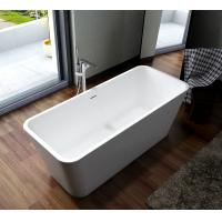 Wholesale Solid Surface Freestanding Soaking Bathtub Smooth High Gloss from china suppliers