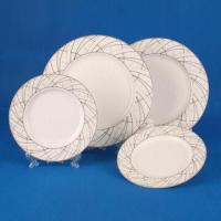 China 20-piece Dinnerware Set in Round Shape, Made of White Porcelain ...