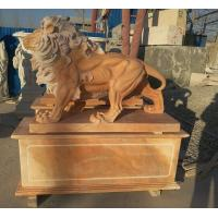 Wholesale Garden decoration Nature Stone walking lions statue pink marble animal sculpture,stone carving supplier from china suppliers