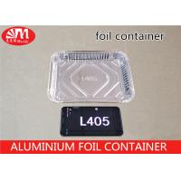 Wholesale L405 Aluminium Foil Packaging Rectangle Shape Shallow Tray Foil Container 600ml Volume from china suppliers