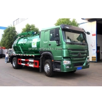 Wholesale SINOTRUK HOWO 290HP 10CBM 10,000liters Vacuum Sewage Suction Truck Used to dredge sewer pipes from china suppliers
