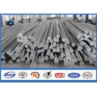 Wholesale 9M 10M Electric Distribution Galvanized Steel Pole tapered steel tube 10 KV ~ 550 KV from china suppliers