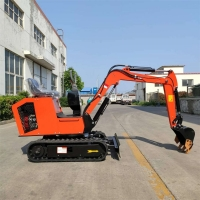 Wholesale Orange Color 1 Ton Mini Excavator With Rubber Track from china suppliers