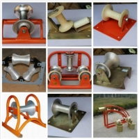 Straight Line Cable Laying Roller , Wear Resistant Cable Pulling Rollers 0