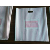 China Customizable Plastic Shopping Bag / Plastic Merchandise Bags With Die Cut Handles wholesale