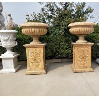 Wholesale Marble statue planter stone carvings flowerpot sculpture,outdoor stone garden products supplier from china suppliers