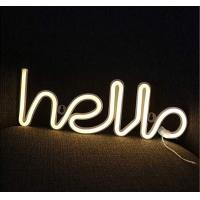 China 39 Inch LED Flexible Strip Lights , Hello Neon Word Sign Neon Letter Lights For Baby Room on sale