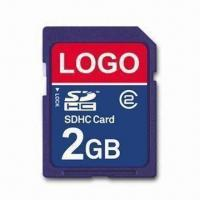 Wholesale SD Card with 5Mbps Reading Speed and 2GB Capacity, Measures 24 x 32 x 2.1mm from china suppliers