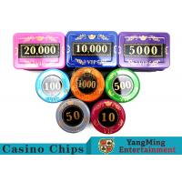 Wholesale 730 Pcs Crystal Screen Style Roulette Chip Set / Poker Game Set In Aluminum Case from china suppliers